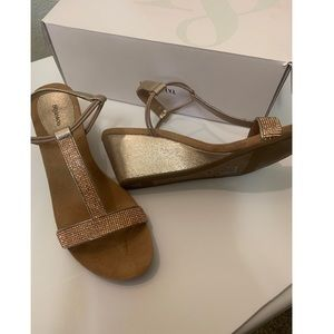 Brand new rose gold Style & Co Milan wedge sandals